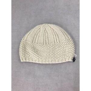 American Eagle Cream Knit Wool Blend Beanie Hat OS